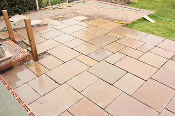 Building and laying a natural stone patio