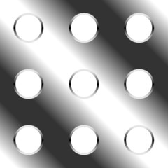 Abstract seamless perforated metal plate