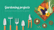 Home gardening banner - 81518891