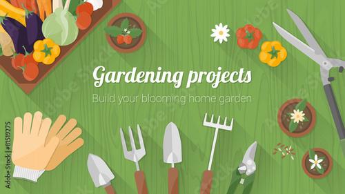 Home gardening banner - 81519275