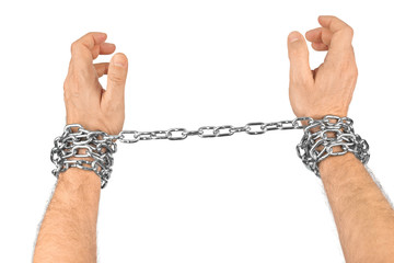 Chain and hands