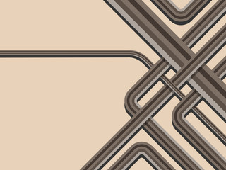 Abstract trendy striped vector background