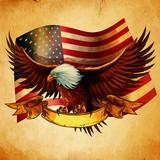 EAGLE FLAG USA VINTAGE