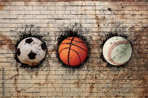 basketball, baseball and soccer - 81519816