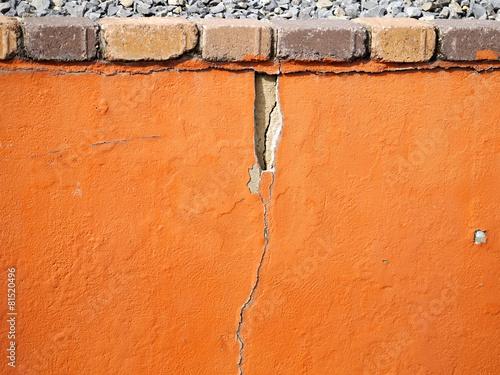 Foto op Plexiglas Wand Schäden an Wand