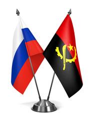 Russia and Angola - Miniature Flags.