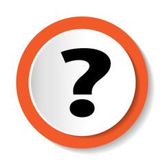 Круглая векторная иконка с изображением вопроса