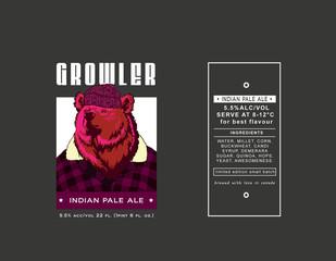 beer label growler purple