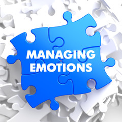 Managing Emotions on Blue Puzzle.