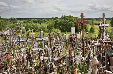 Hill of Crosses near Siauliai. Lithuania