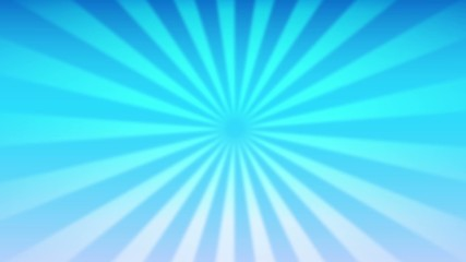 Basic blur sunburst blue sky looped