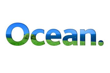 scritta,  oceano, acqua, estate, parola