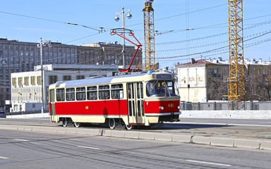 Celebrating the Day of retro trams in Moscow