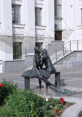 Monument relaxed ballerinas in Minsk near the Bolshoi Theatre of