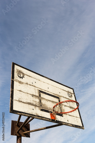 Poster Old Street basketball basket