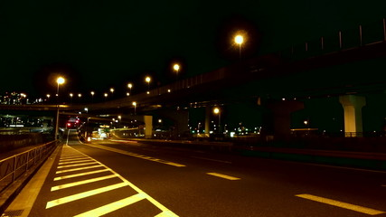 Traffic illumination in Tokyo's industrial area