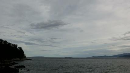 Cloudscape over the shore