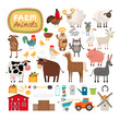 Vector farm animals