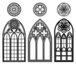 Gothic windows of cathedrals - 81529473
