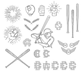 Collection of Baseball symbols