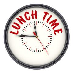 Время обеда (Lunch time). Часы с надписью