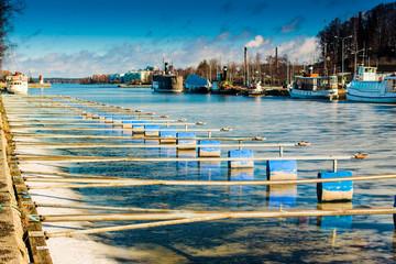 Pier On A Frozen Lake
