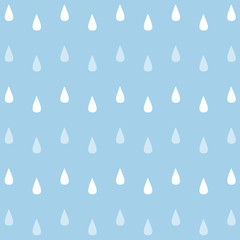 Vector seamless watercolor rain pattern. EPS 10