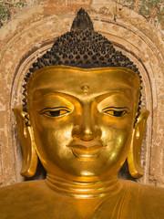 Smile Face of Buddha Image inside Htilominlo Pagoda, Bagan