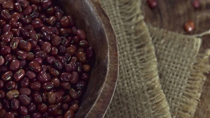 Portion of dried Red Beans (not loopable 4K footage)