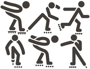 roller skates icons