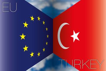 european union vs turkey flags