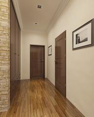 Modern style entrance