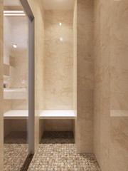 Contemporary style glass shower