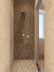 Contemporary style shower