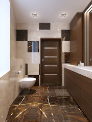 Modern bathroom interrior