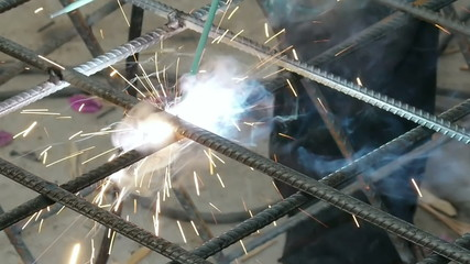 Soldering Steel Rods with Sparks