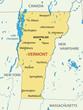 Vermont - vector map