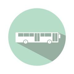 Icono bus urbano esmeralda botón sombra