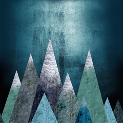 Mountains - a place of adventure. Seamless horizontal background