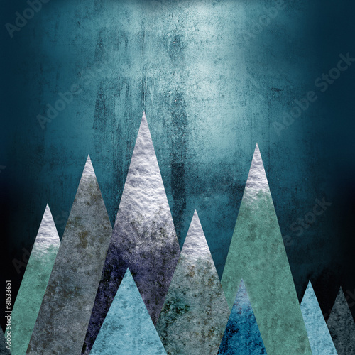 Mountains - a place of adventure. Seamless horizontal background - 81533651