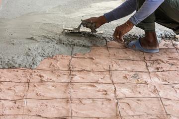 Plasterer concrete cement floor