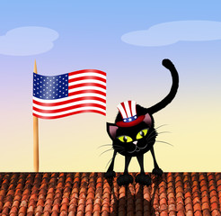 cat on Independence Day