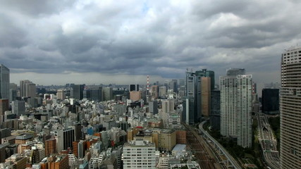 Aerial timelapse of metropolitan Tokyo