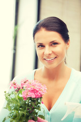 lovely housewife with flower