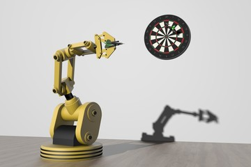Robot wint spelletje darts