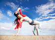 beautiful dancing girl in movement