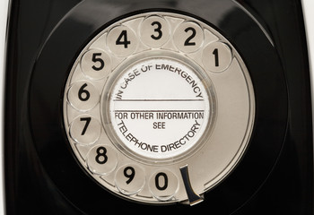 old black rotary phone