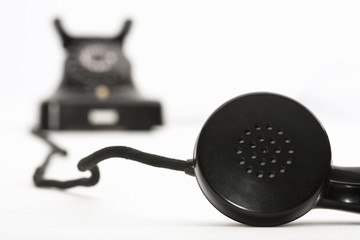 classic black telephone receiver