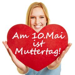 Am 10. Mai ist Muttertag!