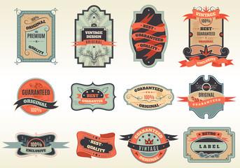 Original retro labels emblems collection